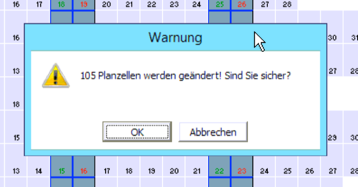 Jahresplanung Planzellen